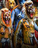 Explore Kerala - with Onam Pulikkali Tiger Play